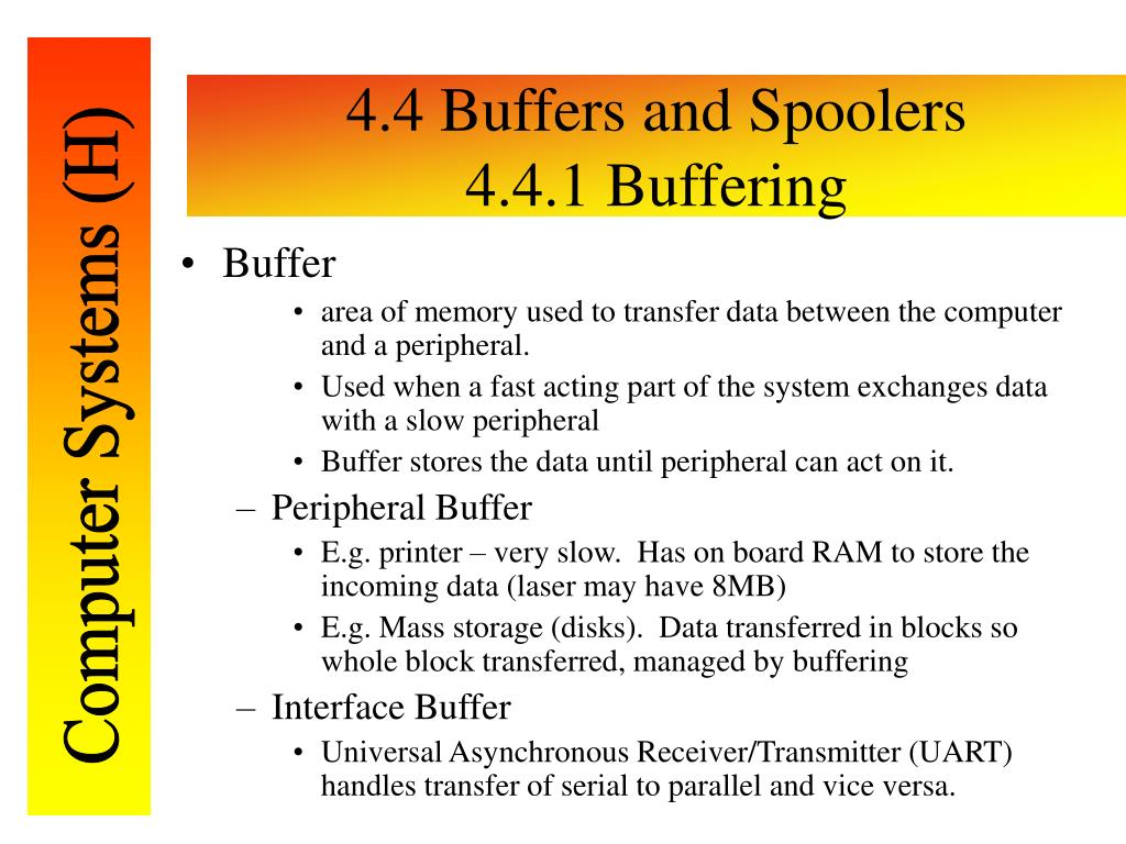 4.4 Buffers and Spoolers