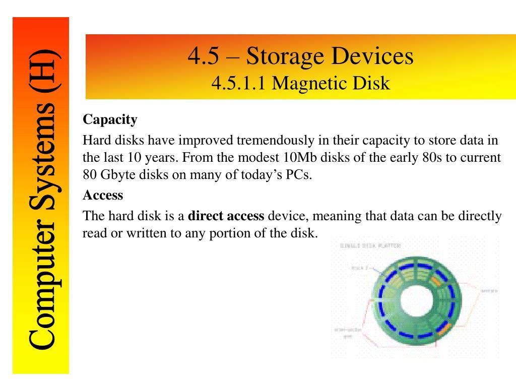 4.5 – Storage Devices