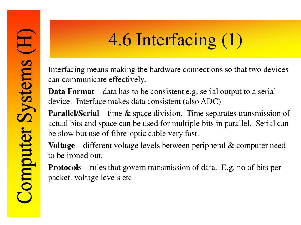 4.6 Interfacing (1)