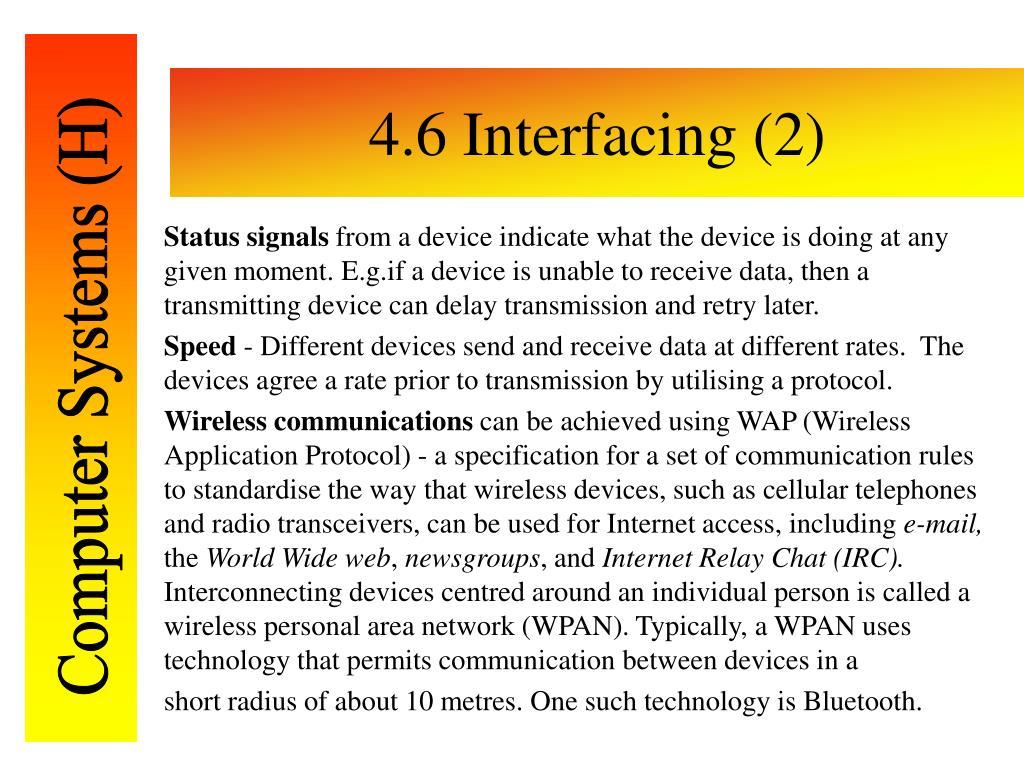 4.6 Interfacing (2)