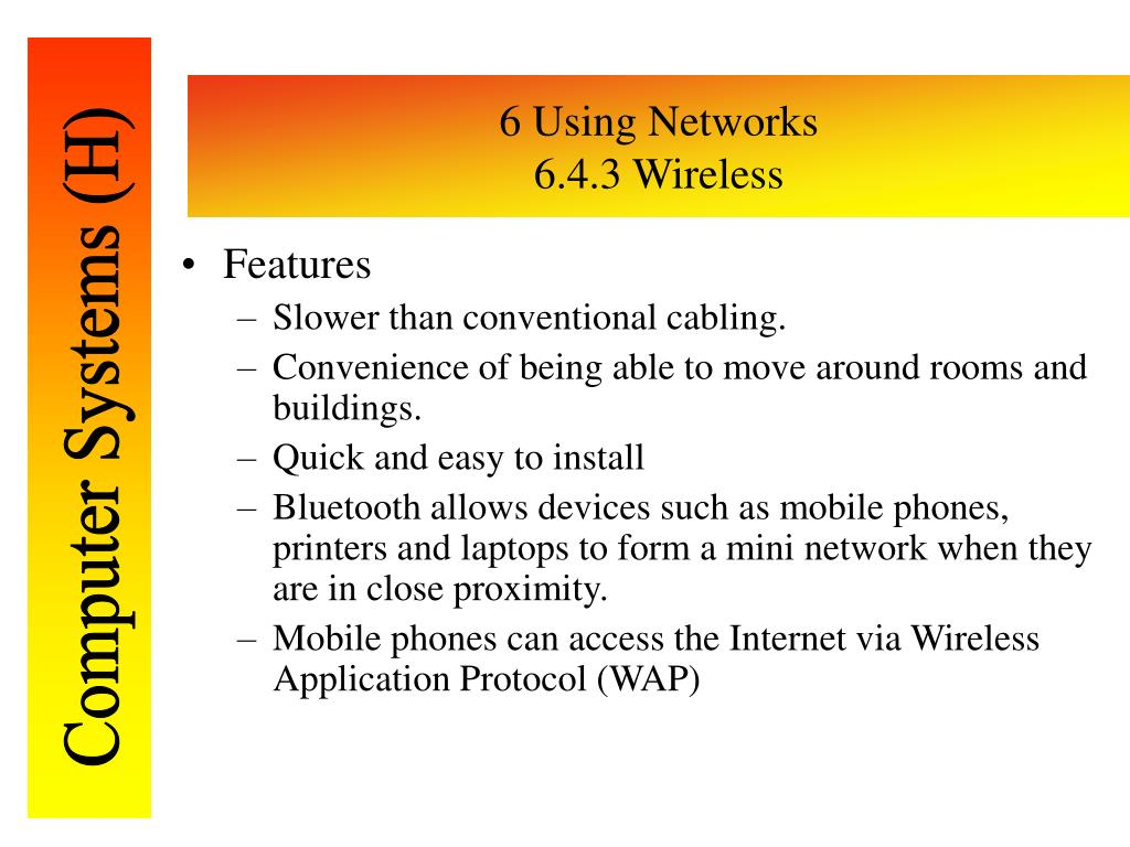 6 Using Networks
