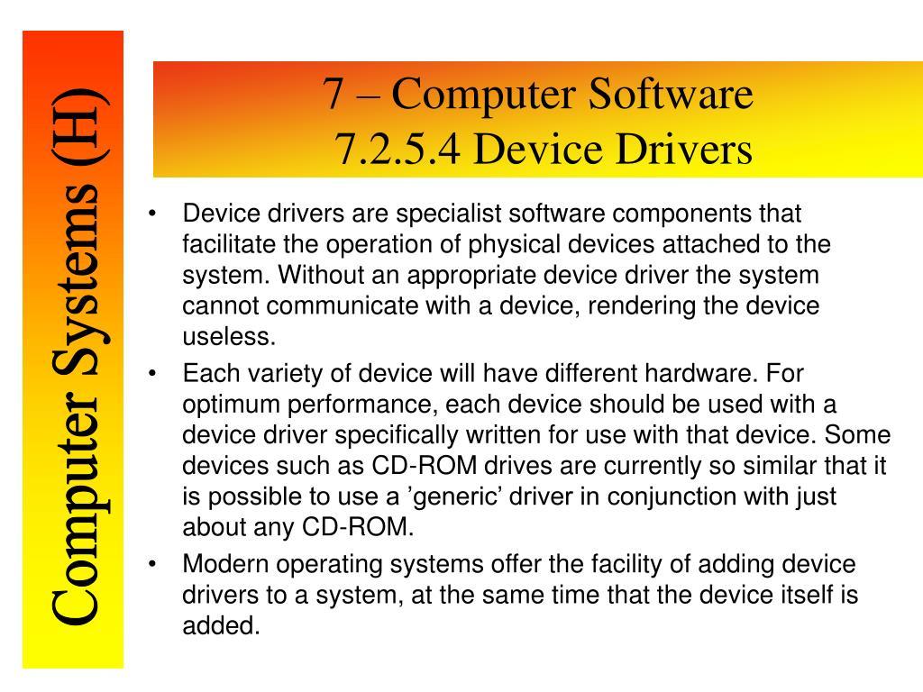 7 – Computer Software