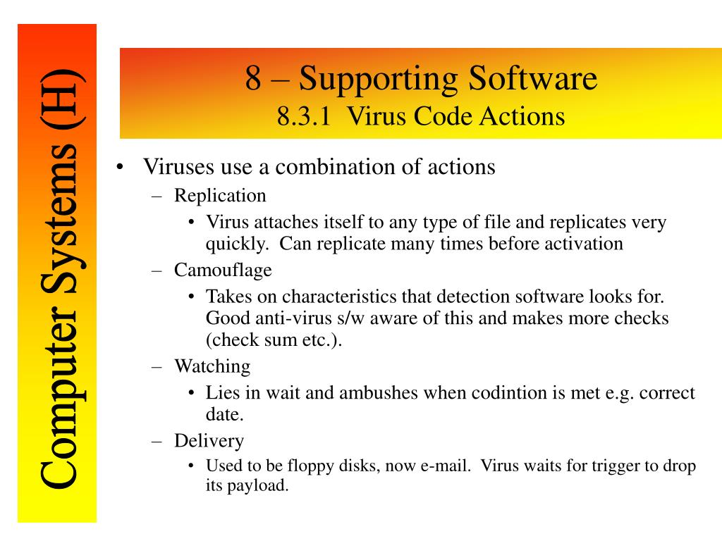 8 – Supporting Software