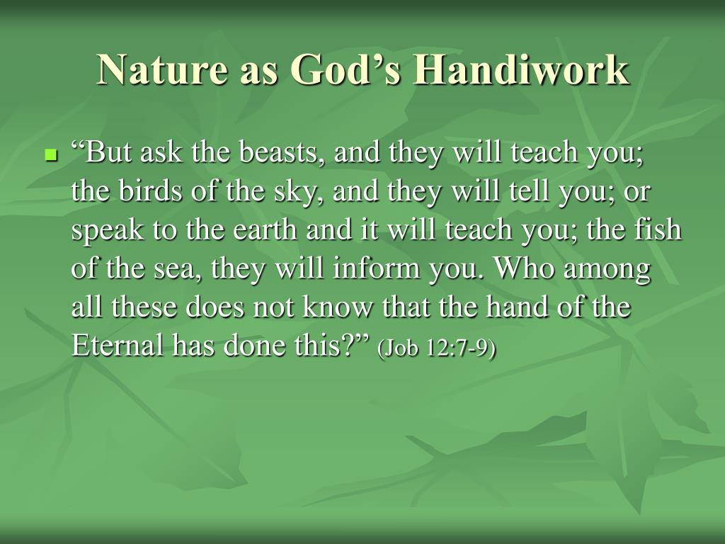 Nature as God's Handiwork