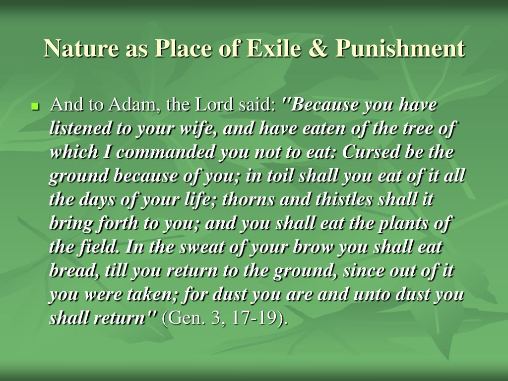 Nature as Place of Exile & Punishment