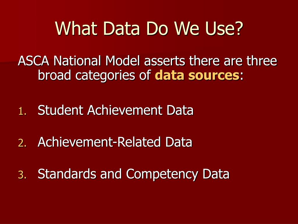 What Data Do We Use?