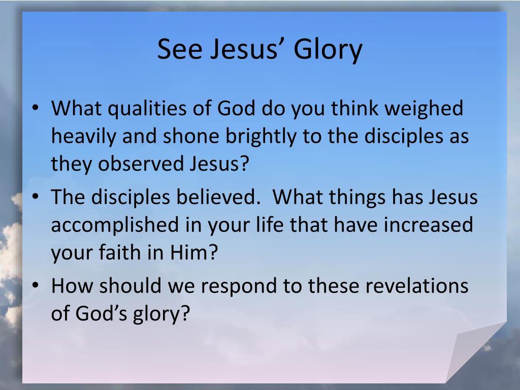 See Jesus' Glory
