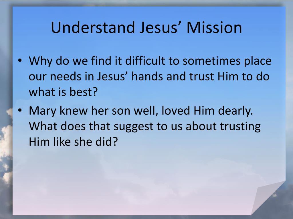 Understand Jesus' Mission