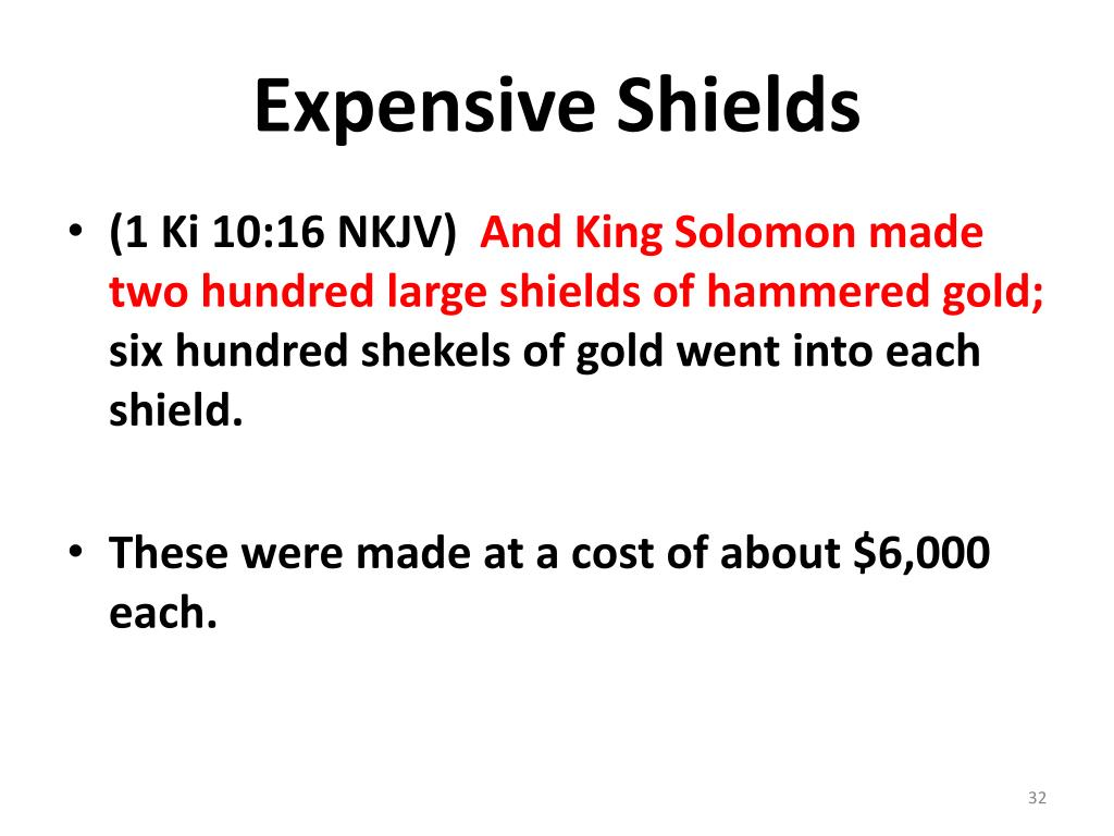 Expensive Shields