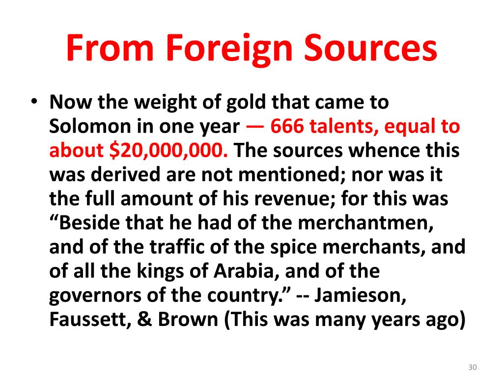 From Foreign Sources
