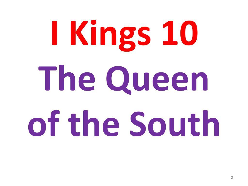 I Kings 10