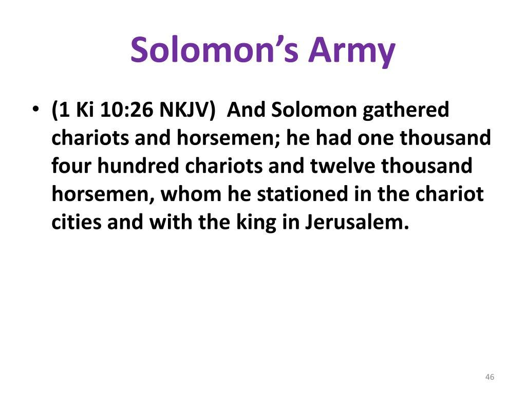 Solomon's Army