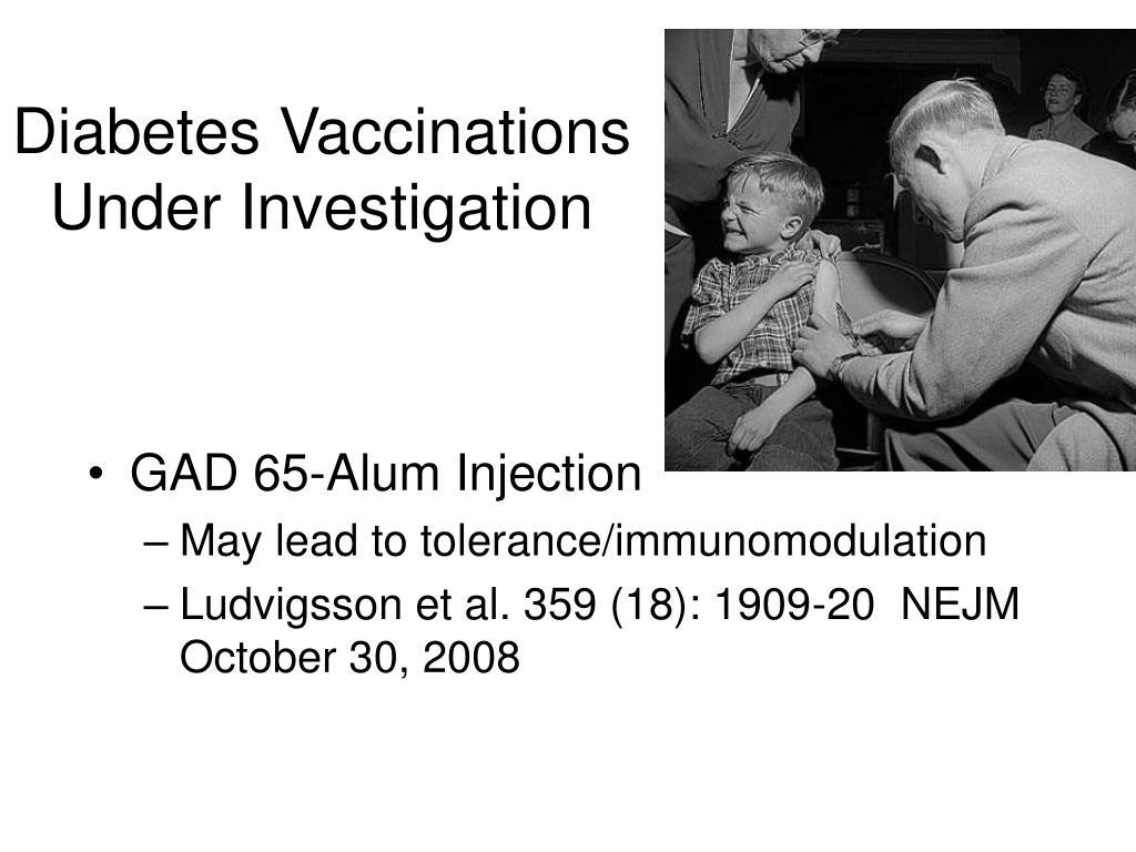 Diabetes Vaccinations Under Investigation