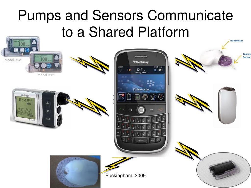 Pumps and Sensors Communicate to a Shared Platform