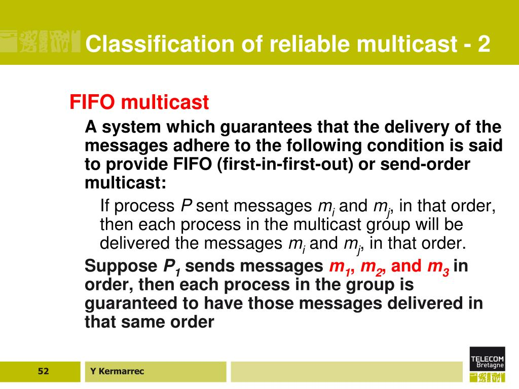 Classification of reliable multicast - 2