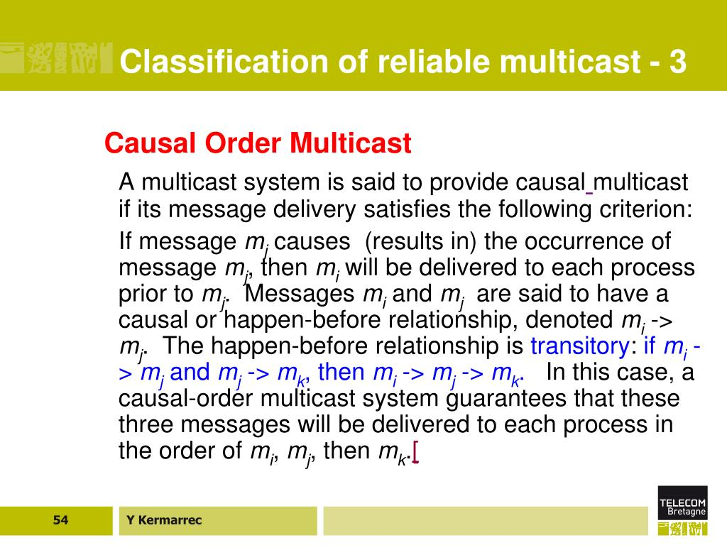 Classification of reliable multicast - 3