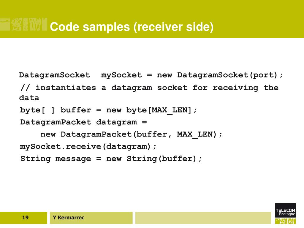 Code samples (receiver side)