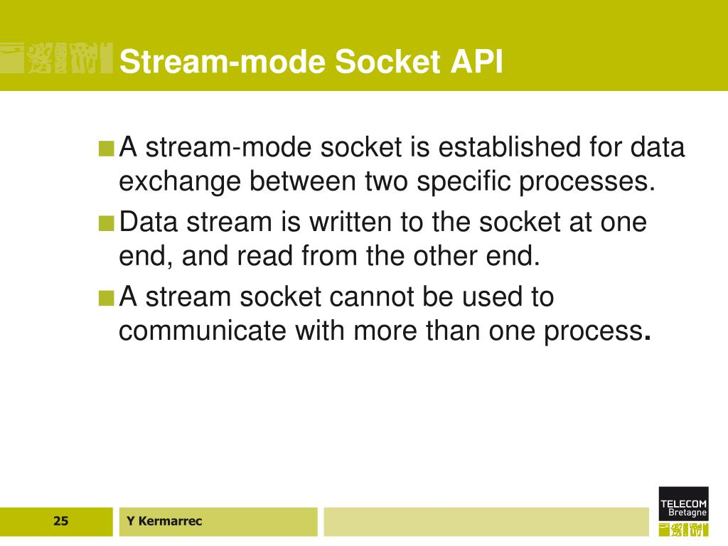 Stream-mode Socket API