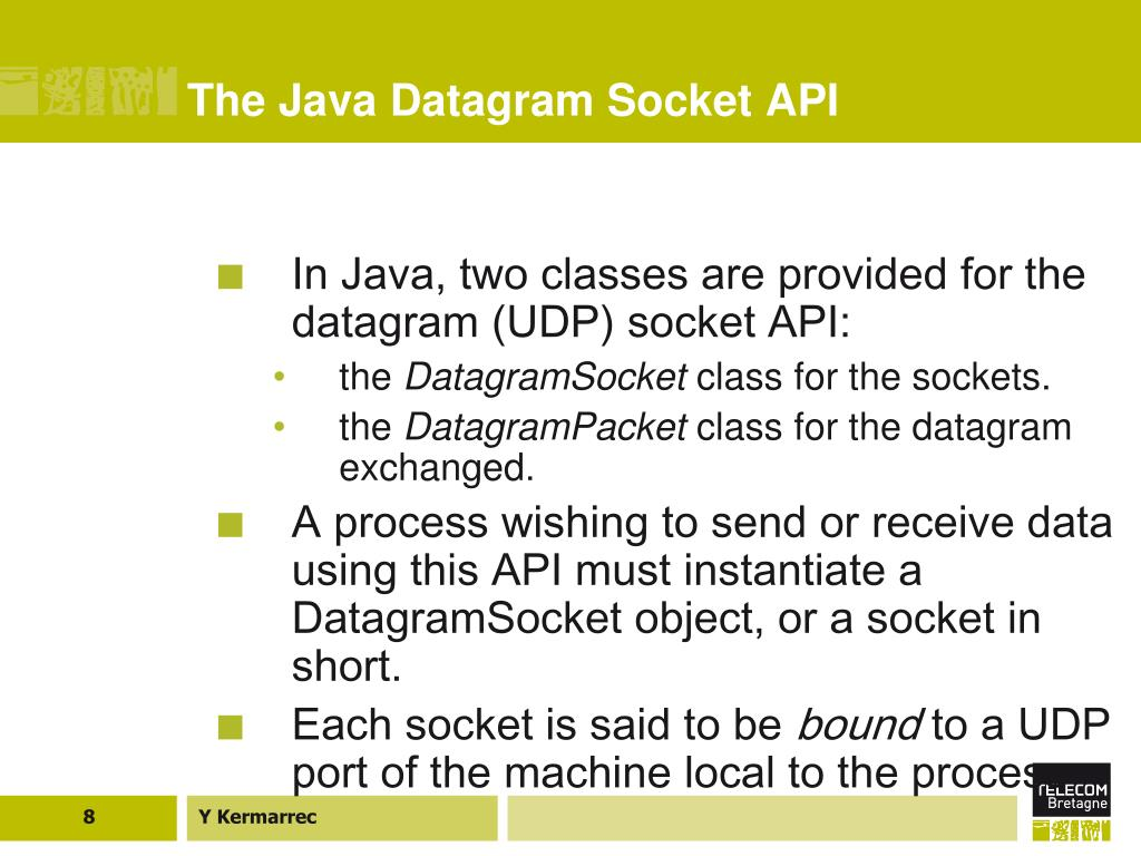 The Java Datagram Socket API