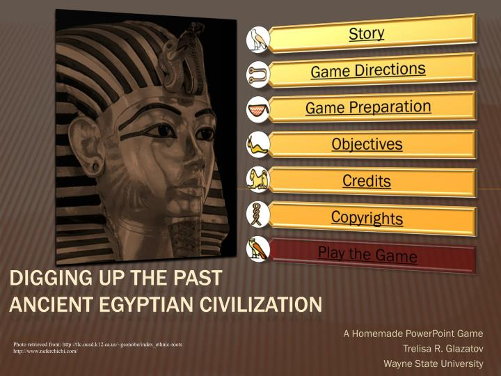 digging up the past ancient egyptian civilization n.
