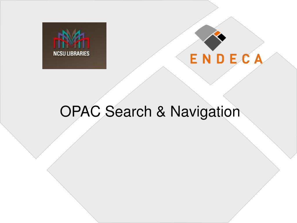 opac search navigation
