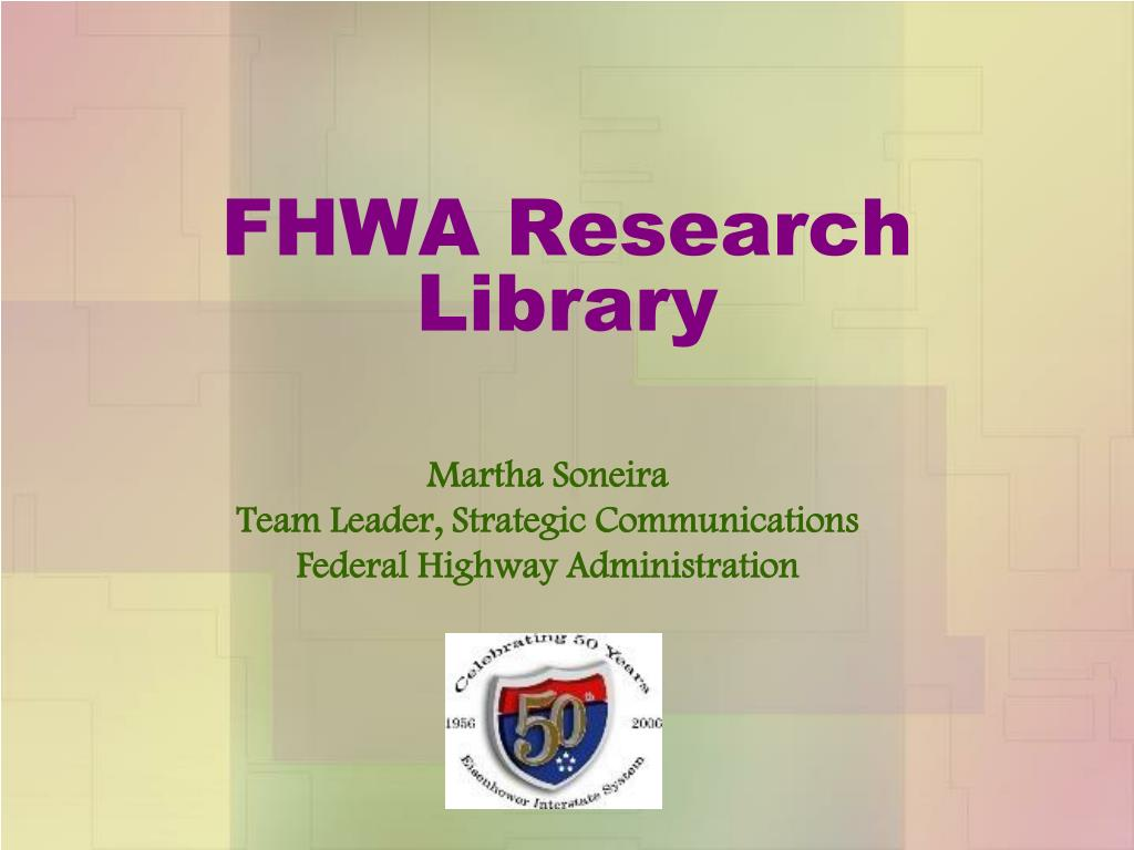 FHWA Research Library