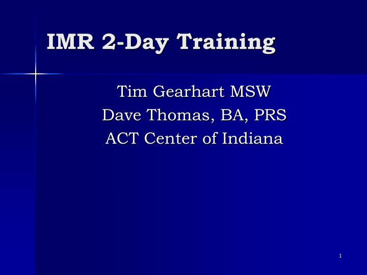 imr 2 day training n.