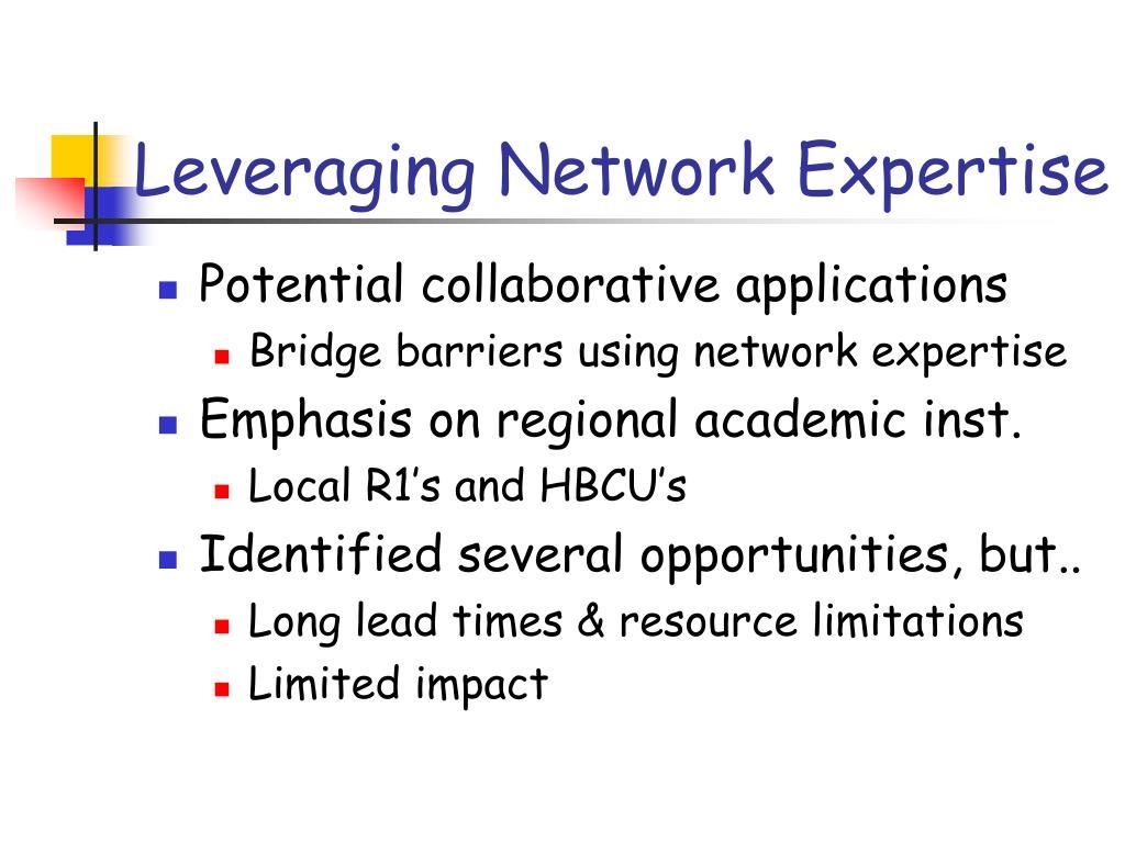 Leveraging Network Expertise