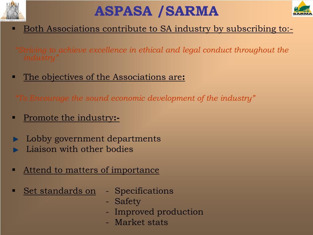 ASPASA /SARMA
