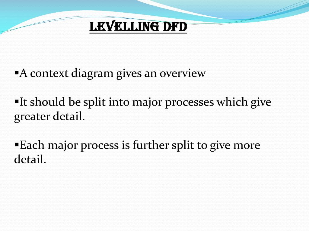LEVELLING DFD