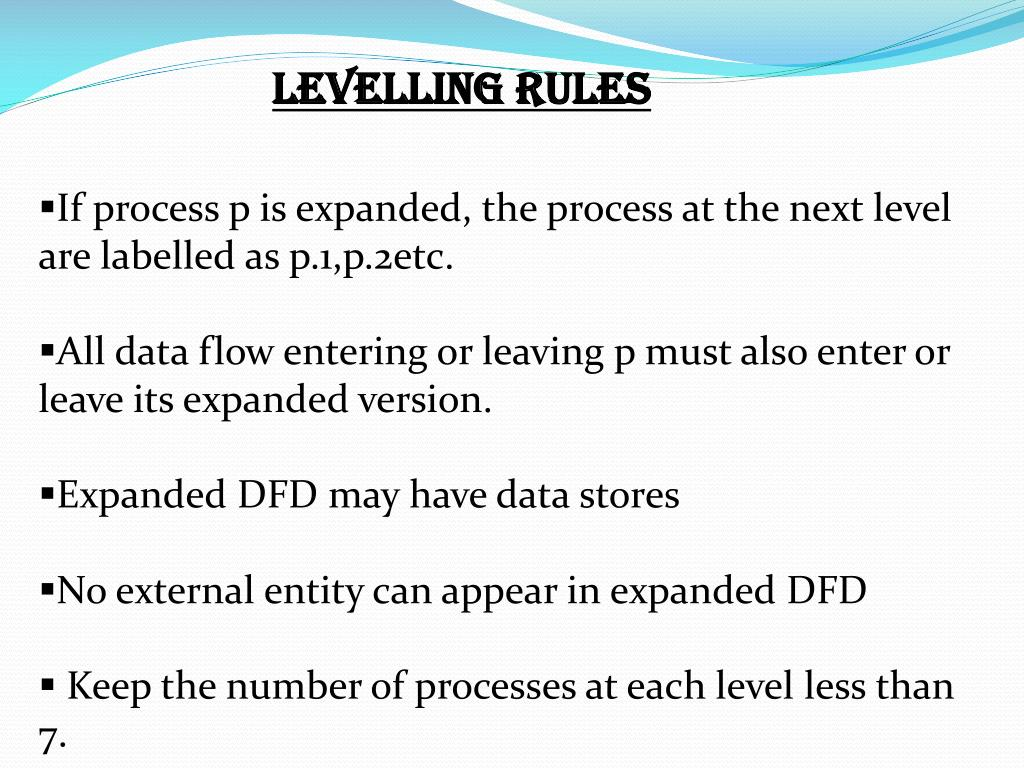 LEVELLING RULES