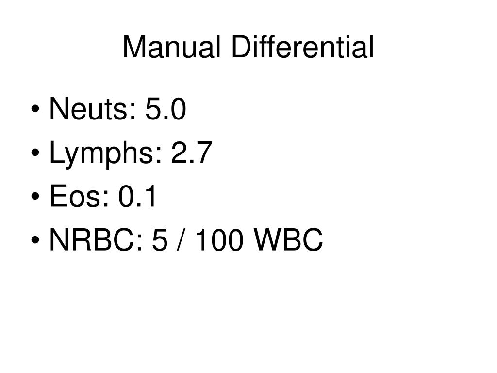 Manual Differential