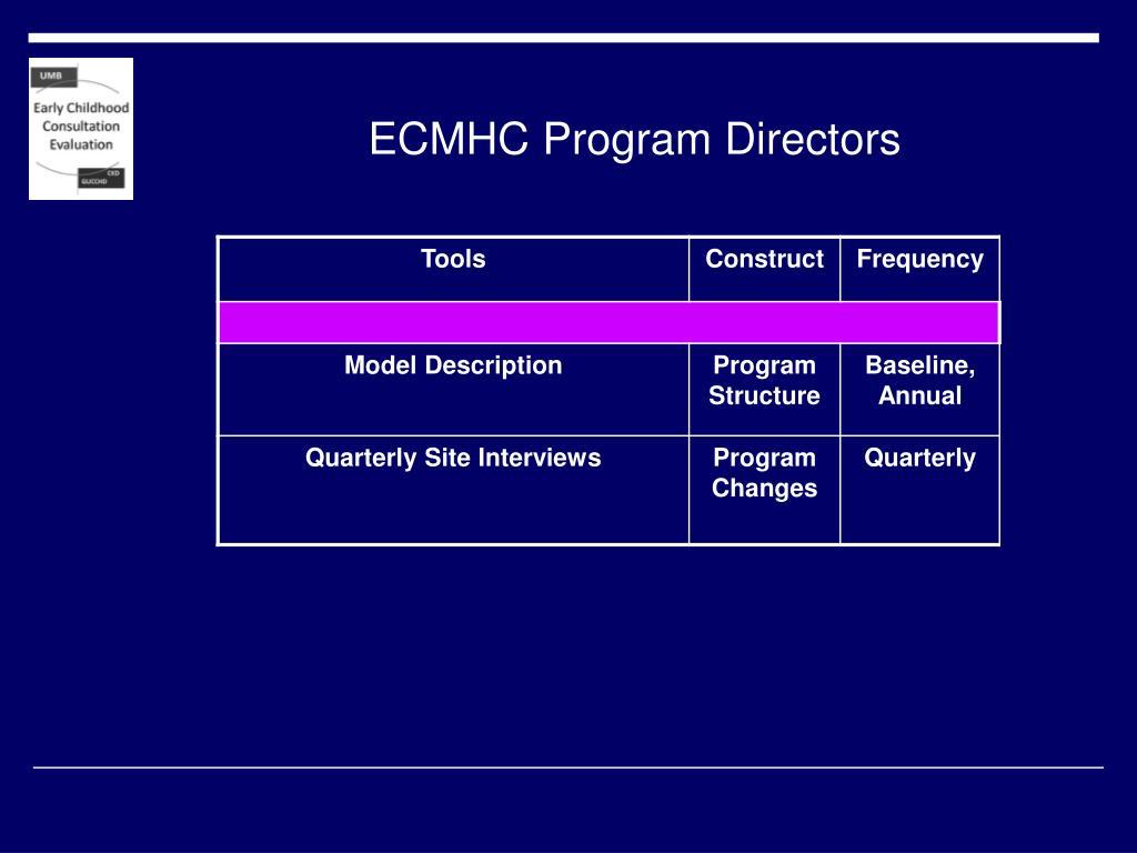 ECMHC Program Directors