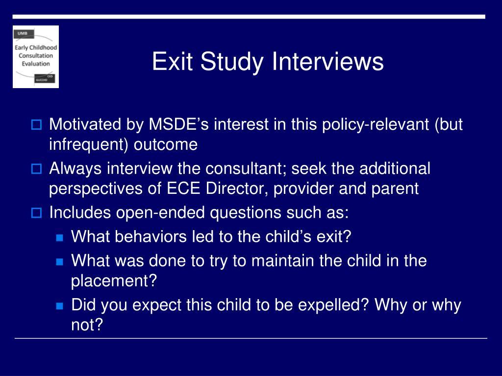 Exit Study Interviews