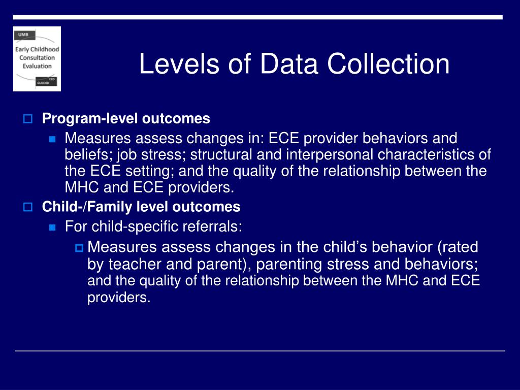 Levels of Data Collection