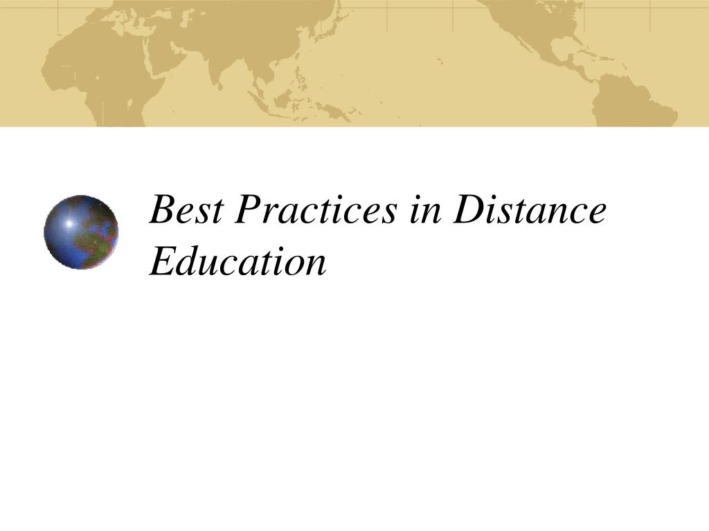 best practices in distance education