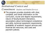 institutional context and commitment students and student services