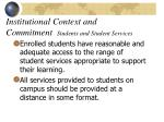 institutional context and commitment students and student services15