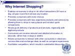 why internet shopping