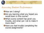 assessing student performance19