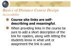 basics of distance course design accessibility63