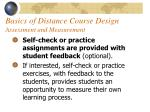 basics of distance course design assessment and measurement47