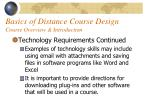 basics of distance course design course overview introduction39