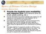 basics of distance course design learner interaction54