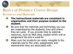 basics of distance course design resources and materials49