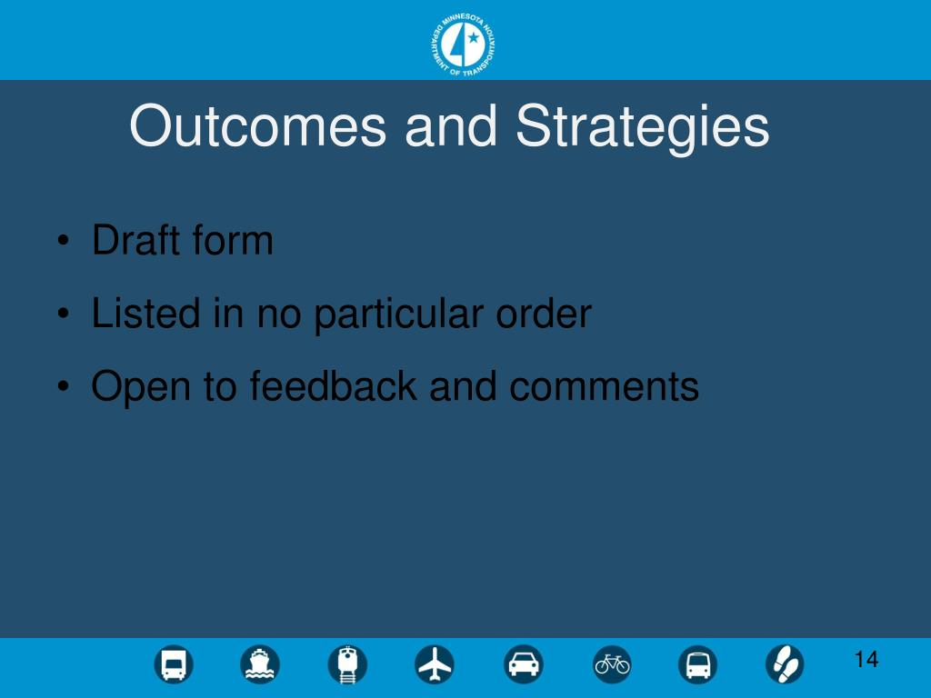 Outcomes and Strategies