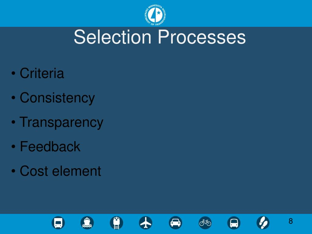 Selection Processes
