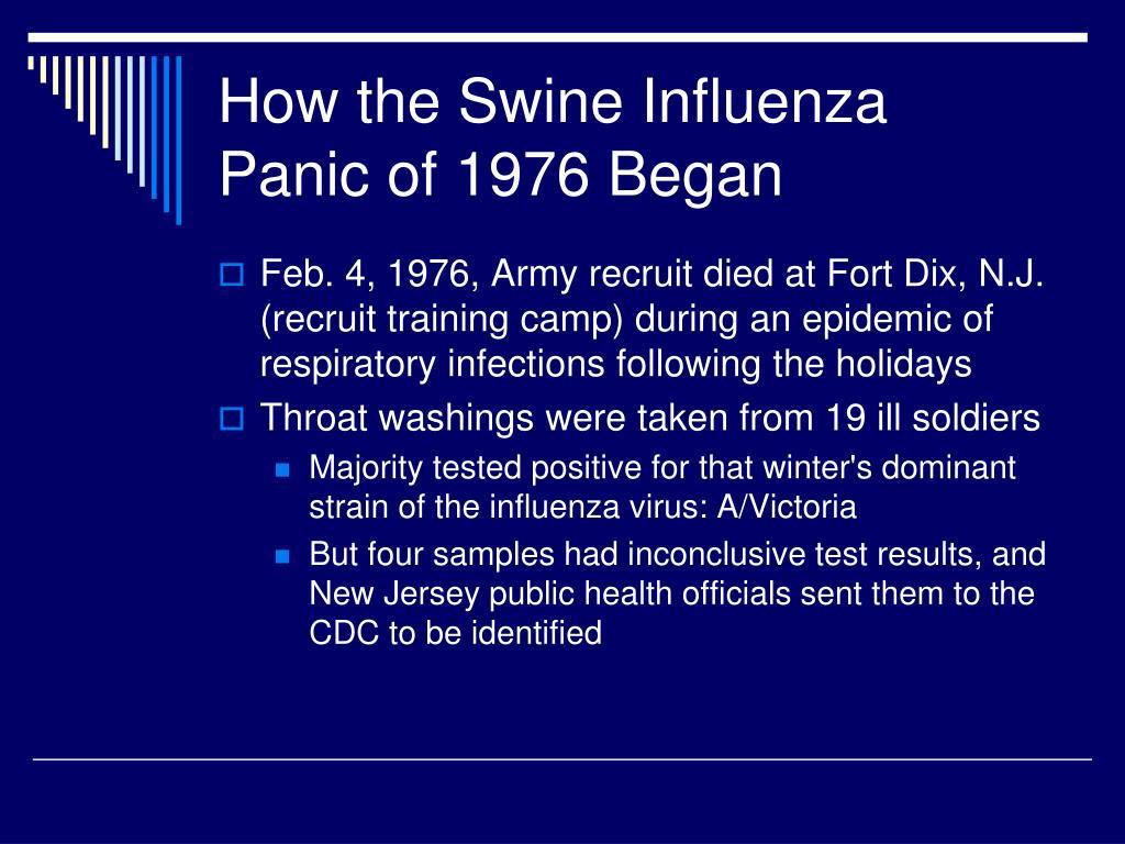 How the Swine Influenza Panic of 1976 Began