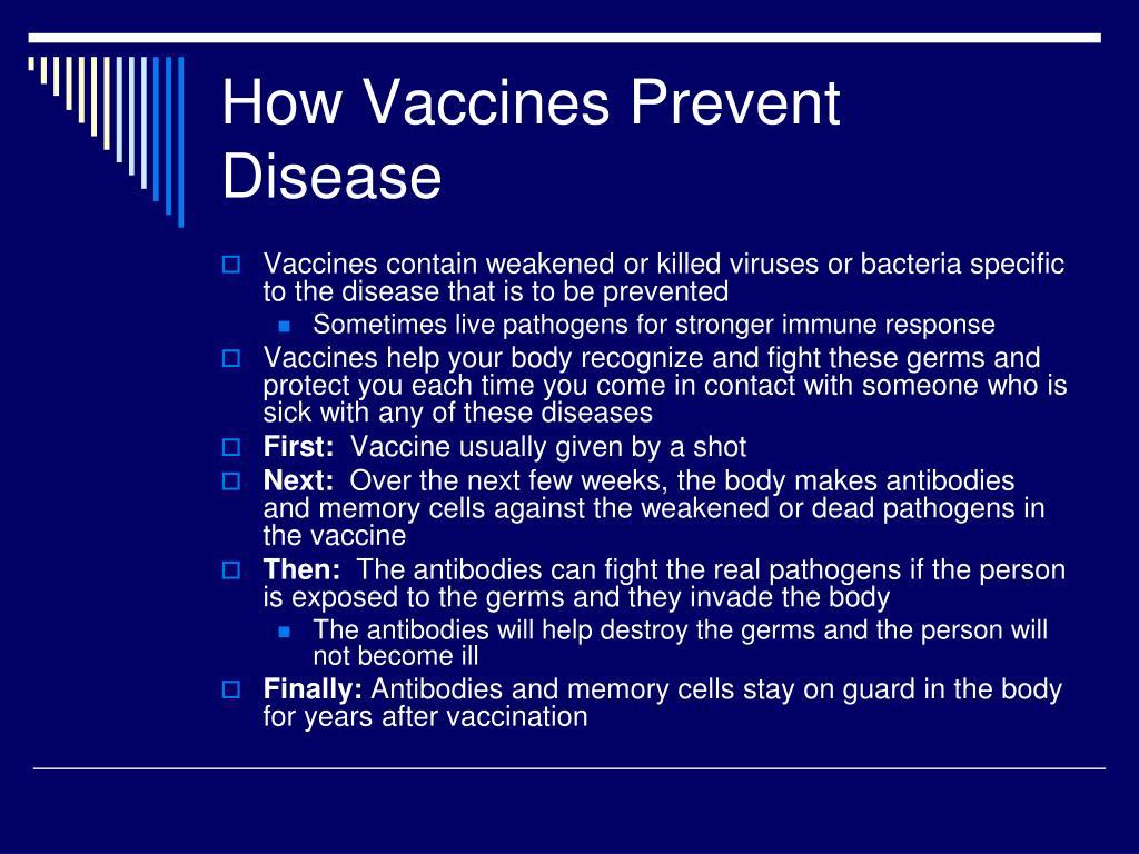 How Vaccines Prevent Disease