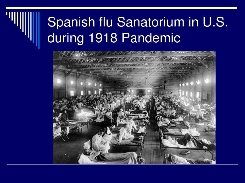 Spanish flu Sanatorium in U.S. during 1918 Pandemic